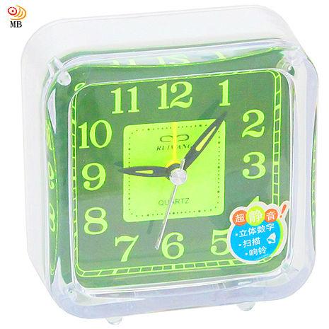 月陽9cm正方形帶燈掃秒靜音鬧鐘時鐘座鐘(RW926)(特賣)