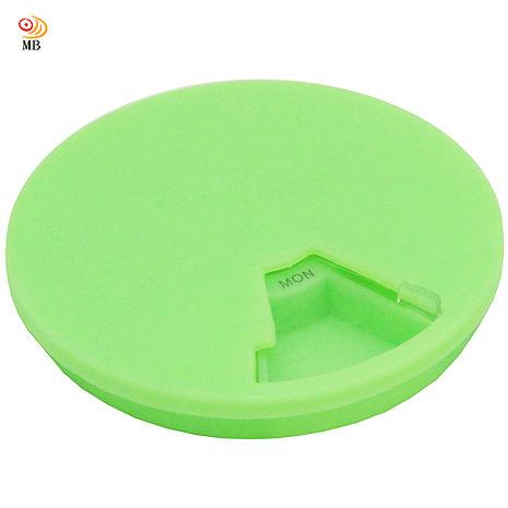 月陽隱私一週7天7格圓形藥盒收納盒超值2入(D7B)