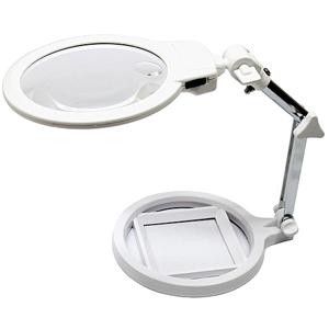 125mm鏡面超白光LED放大鏡閱讀檯燈(MG3B-1A)