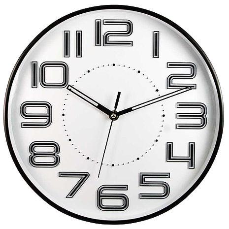 (特賣)NAKAY立體數字12吋靜音掛鐘(NCL-37)