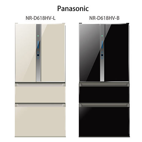 【Panasonic.國際牌】ECONAVI.610L四門變頻電冰箱/香檳金(NR-D618HV)