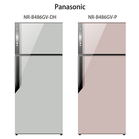 【Panasonic.國際牌】ECONAVI.485L雙門變頻電冰箱/紫羅蘭(NR-B486GV)