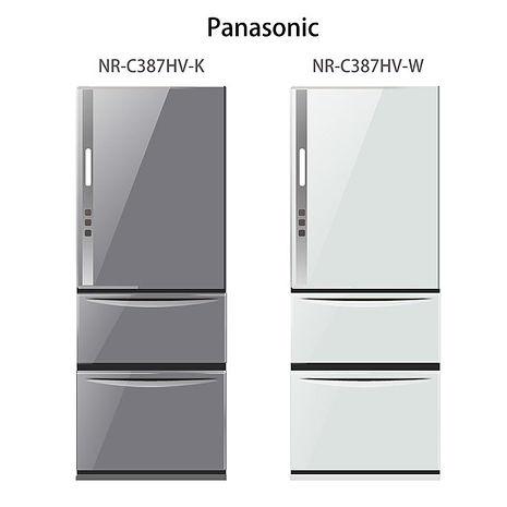 【Panasonic.國際牌】ECONAVI.385L三門變頻電冰箱/瑭瓷白(NR-C387HV)