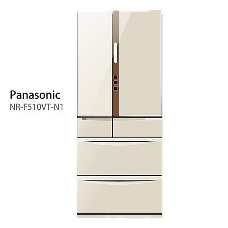 【Panasonic.國際牌】日本進口ECONAVI.505L六門變頻電冰箱/香檳金(NR-F510VT)