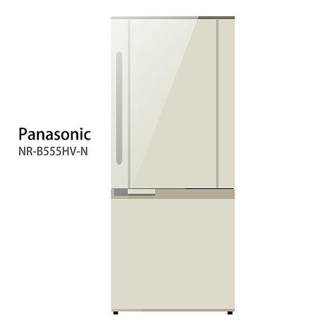 【Panasonic.國際牌】545L變頻雙門電冰箱/琥珀金(NR-B555HV)