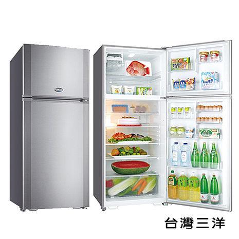【台灣三洋 SANLUX】580公升雙門定頻冰箱/銀色(SR-A580B)