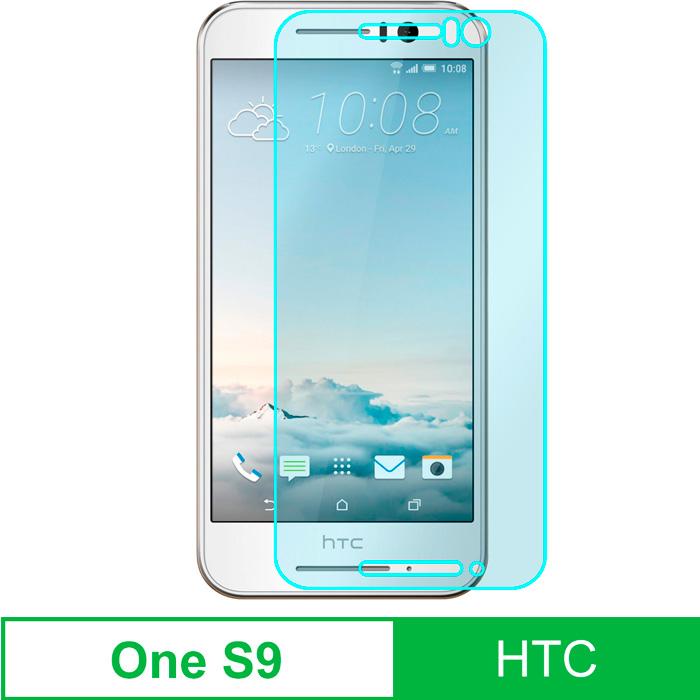 HTC One S9 5吋 強化玻璃弧邊保護貼-2片裝