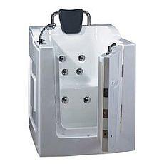 【海夫健康生活館】開門式浴缸 101B-T 恆溫水柱按摩款 (105*85*108cm)