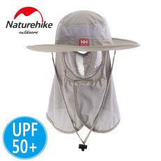 【Naturehike】UPF50 輕量款速乾護頸遮陽帽防曬帽^(卡其^)