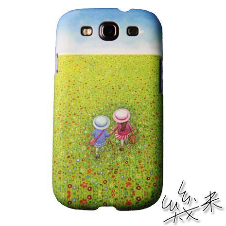 【Agex】Samsung Galaxy S3手機保護殼套-幾米彩繪《走向春天的下午》春野背影AFT001