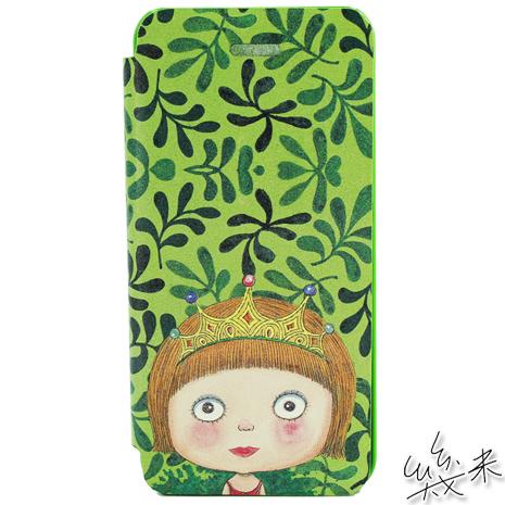 【AGEX】幾米-我不是完美小孩系列 iPhone5/5S掀蓋式手機皮套-完美公主(PW009)