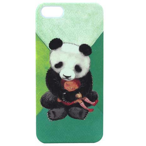 【AGEX】幾米擁抱系列彩繪iPhone5/5S手機保護殼 - 擁抱熊貓(HUG004)