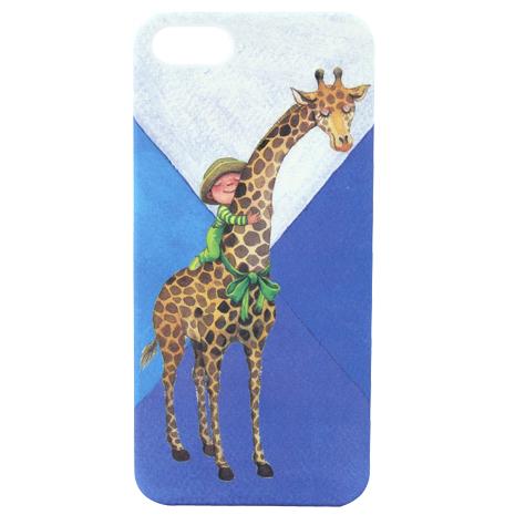 【AGEX】幾米擁抱系列彩繪iPhone5/5S手機保護殼 - 擁抱長頸鹿(HUG006)