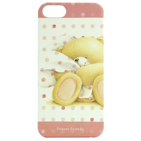 【FOREVER FRIENDS】iPhone5/5S 彩繪手機保護殼-棉被熊(WSH145)