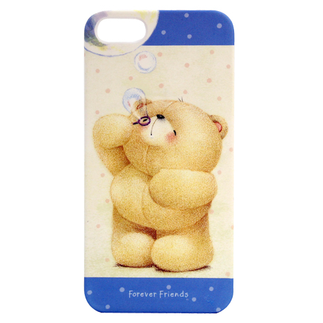 【FOREVER FRIENDS】iPhone5/5S 彩繪手機保護殼-泡泡熊(WSH147)