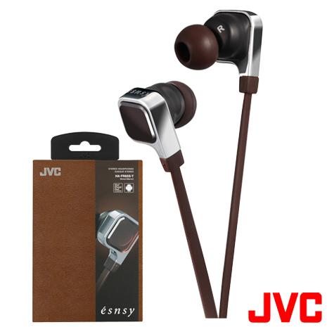 【JVC】時尚潮系列《esnsy》高音質耳道式立體聲耳機 HA-FR65S/T 附MIC(咖啡色)