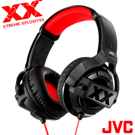 【JVC】時尚搖滾《XX》系列全罩式重低音立體聲耳機 HA-M55X