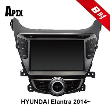 APEX Hyundai Elantra專用 2DIN 手機連動版藍芽導航電容式觸控汽車音響