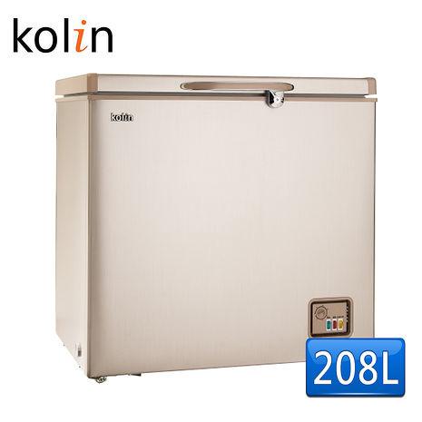 【歌林 Kolin】208L臥式冷凍櫃-拉絲金KR-120F01(含拆箱定位)