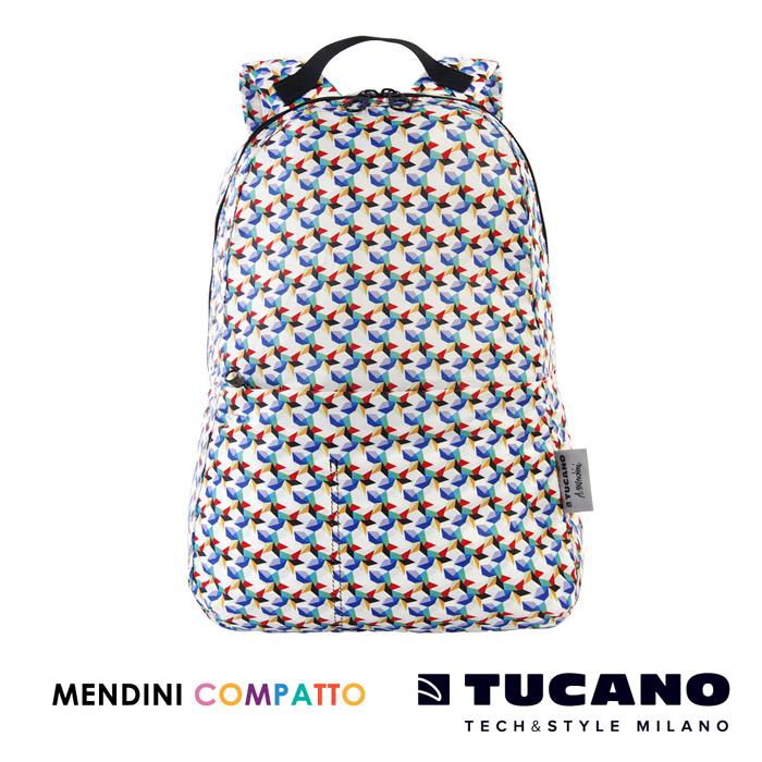 TUCANO X MENDINI 設計師系列超輕量折疊收納後背包-繽紛