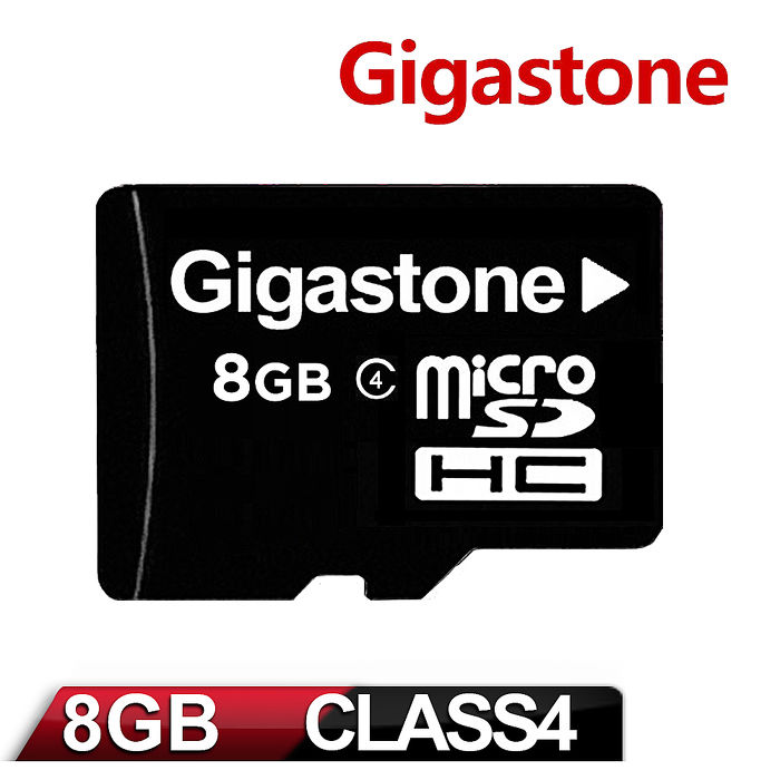 Gigastone 立達國際 8GB Micro SDHC Class4 高速記憶卡(附轉卡)