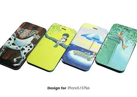 幾米系列《真的假的啊》iPhone 6/6s Plus 5.5吋掀蓋皮套