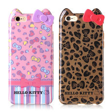 GD iPhone6 6s Kitty立體蝴蝶結保護套~豹紋款