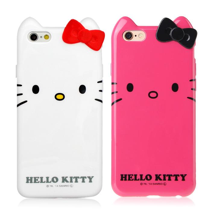GD iPhone6/6s Kitty立體蝴蝶結保護套-經典款