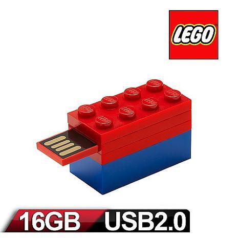 PNY - LEGO 樂高 積木隨身碟 16GB-紅