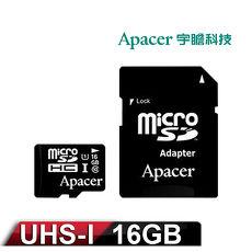 Apacer宇瞻 16GB MicroSDXC UHS~I Class10 記憶卡 ^(附