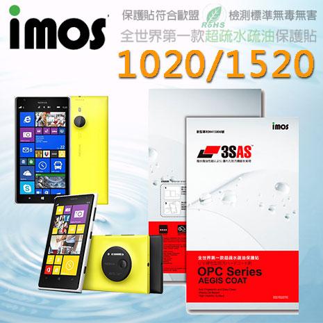 【Mypiece】imos 諾基亞 Nokia Lumia 1020 / 1520 亮面膜 3SAS 螢幕保護貼