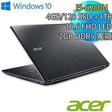單機下殺Acer 宏碁 E5~575G~58KH 15.6吋 i5~6200U 128SS
