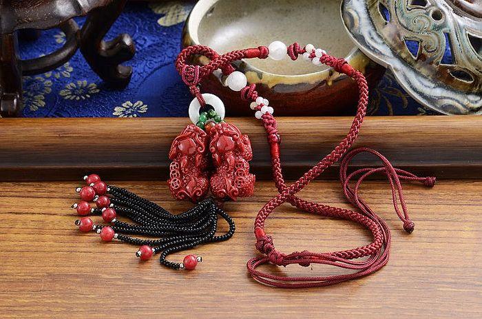紅珊瑚貔貅項鍊(海竹)《含開光》財神小舖【DSP-7301】正財偏財,提升財運