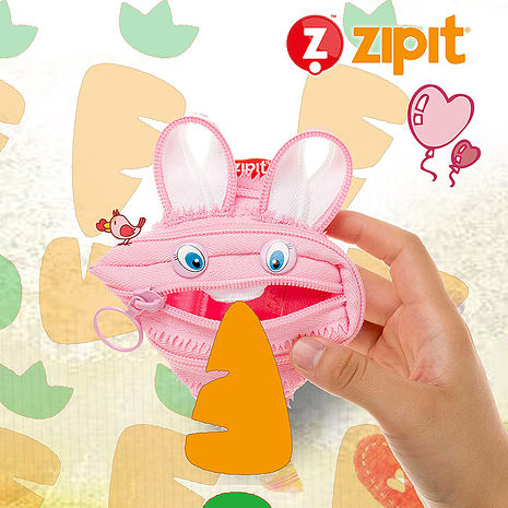 ZIPIT 動物拉鍊包(小)-兔兔
