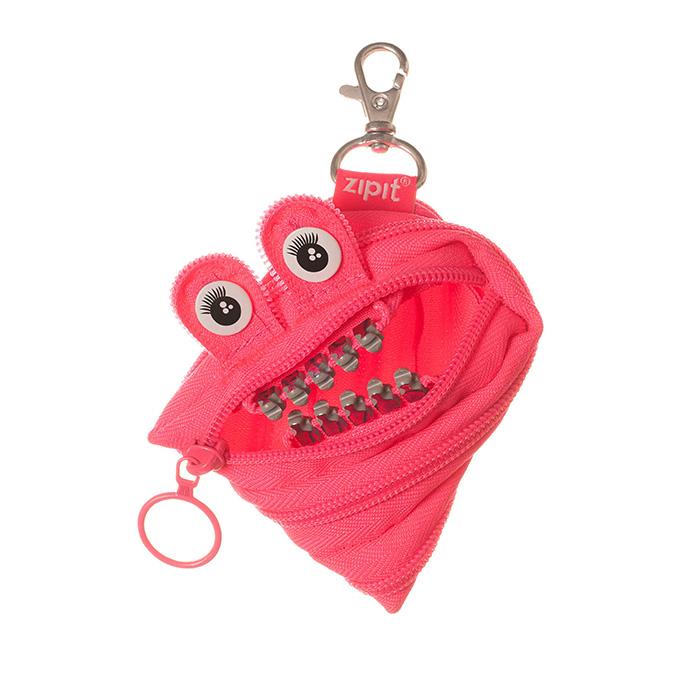 ZIPIT 怪獸拉鍊包鋼牙版(小)-娃娃粉