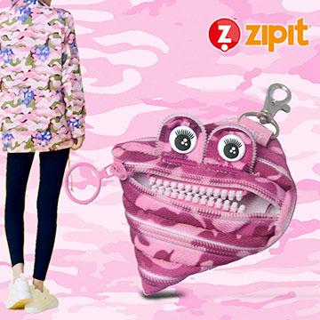 ZIPIT 怪獸迷彩拉鍊包(小)-迷彩粉