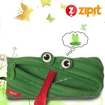 ZIPIT 動物拉鍊包(中)-青蛙