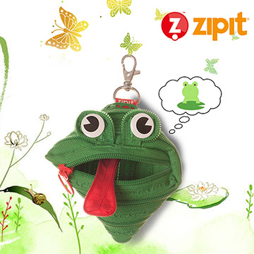 ZIPIT 動物拉鍊包(小)-青娃