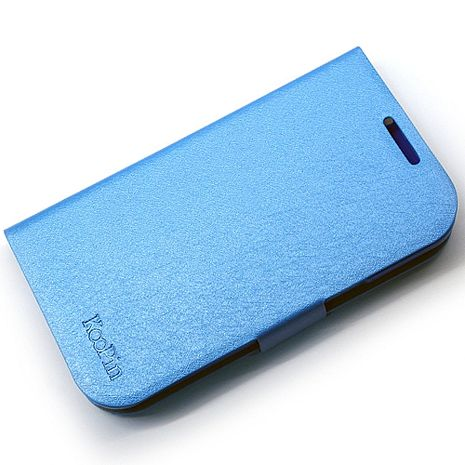 KooPin Samsung Galaxy Win (i8552) 璀璨星光系列 立架式側掀皮套(水漾藍)