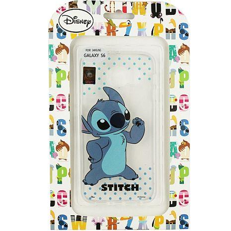 【Disney】Samsung Galaxy S6 彩繪透明保護軟套-史迪奇