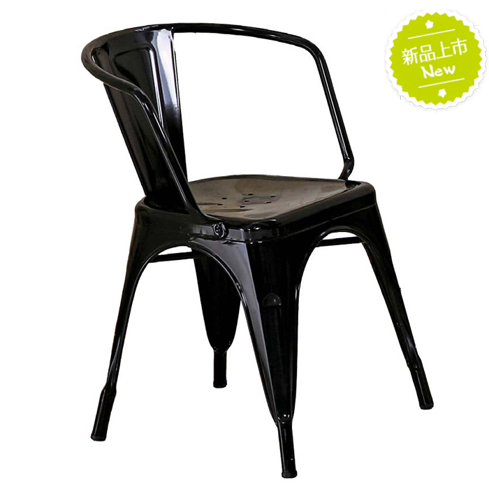 工業風-低背扶手餐椅