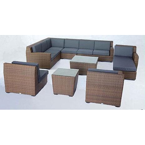 鋁合金L型沙發椅組