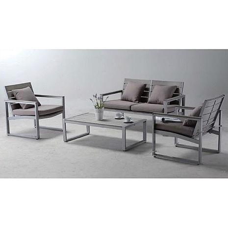 鋁合金塑木沙發桌椅組