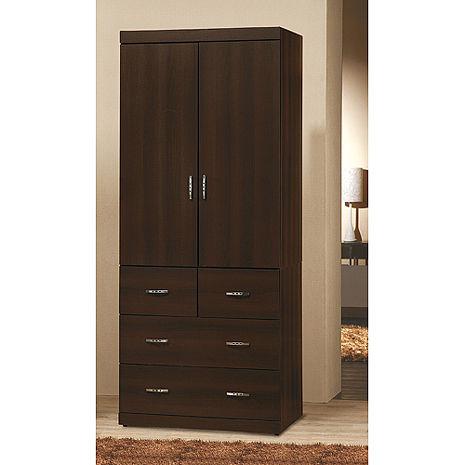 優質胡桃2.7*7尺衣櫥