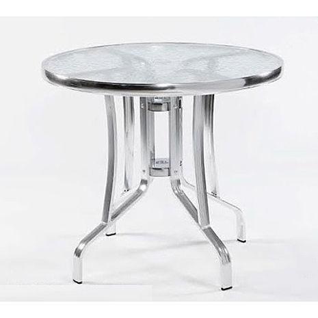 鋁合金2尺玻璃桌