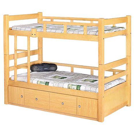 抽屜型3.7尺雙層床