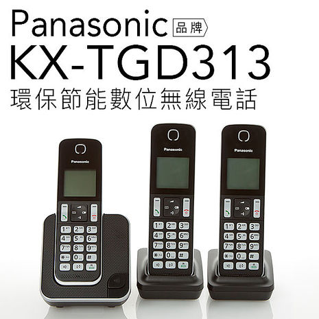 【贈國際牌充電電池2入】Panasonic 國際牌 KX-TGD313 TW DECT數位無線電話【公司貨】
