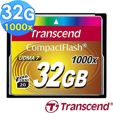 【Transcend 創見】CF 32G 1000x 記憶卡
