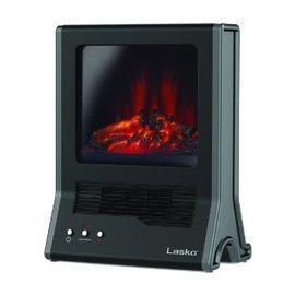 美國Lasko Star Heat火焰星循環氣流陶瓷電暖器CA20100TW 3D仿真動態火焰濾網式壁爐
