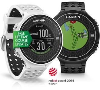 GARMIN Approach S6 極輕薄高爾夫GPS腕錶(黑色/白色)